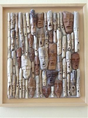 Sculptures de fabpi for Cadre en bois flotte technique