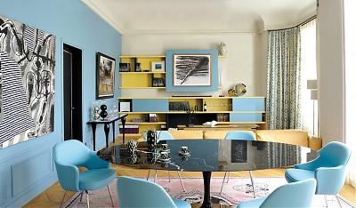 idee decoration salon gris blanc et bleu inspirations deco idees tendances pour embellir ses murs - Deco Salon Bleu Gris
