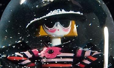 Boule à neige de Noël, boîte à musique (la vie en rose) Sonia Rykiel au 107RIVOLI