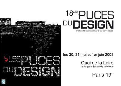 Puces du design les 30 31 mai et 1er juin 2008 paris for Puces du design paris