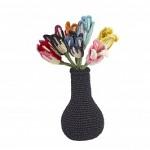 Vase Tulipes au crochet Anne-Claire Petit