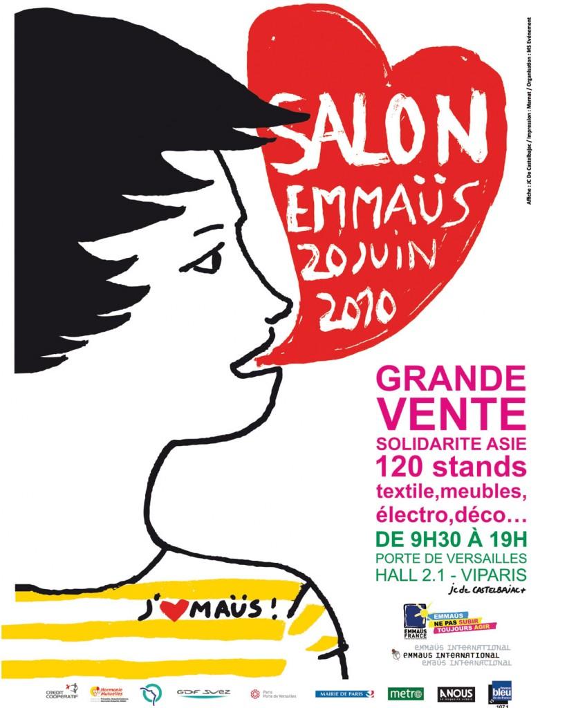 Affiche Salon Emmaüs par JC de Castelbajac