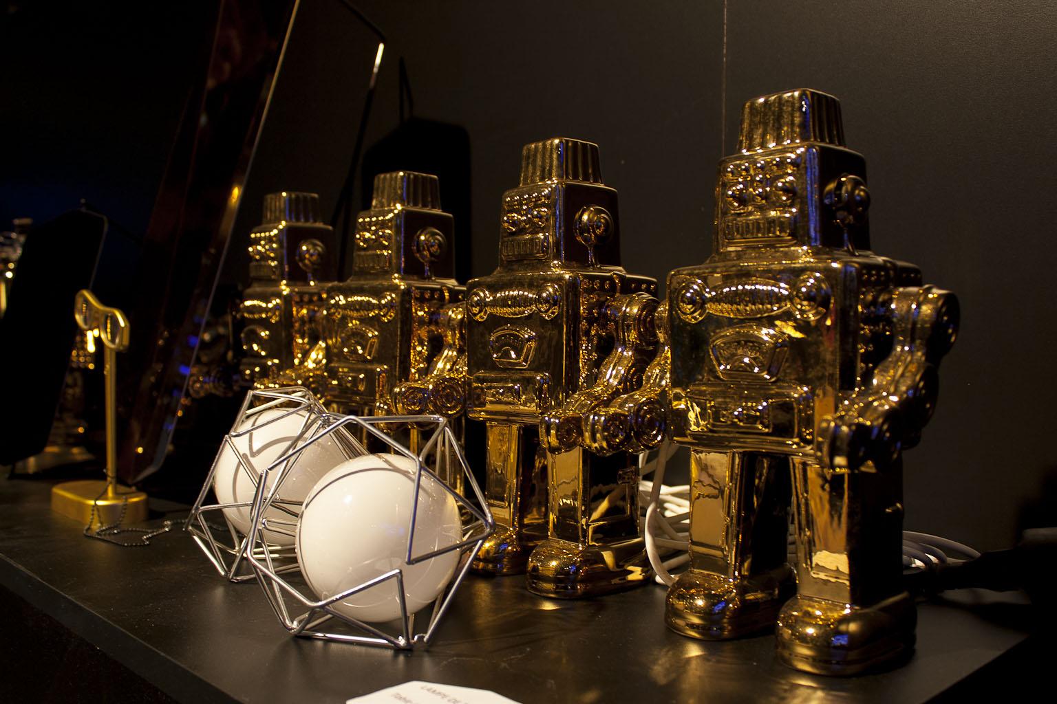 Mon robot en porcelaine or, Seletti, elsewhere : Beyond, Vincent Grégoire, agence Nelly Rodi, Maison et objet janvier 2014