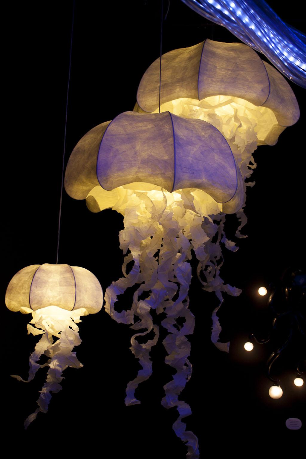 Méduses lumineuses, Géraldine Gonzalez, elsewhere : Beyond, Vincent Grégoire, agence Nelly Rodi, Maison et objet janvier 2014