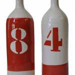 Bouteilles chiffre orange Valérie Le Roux ©DR