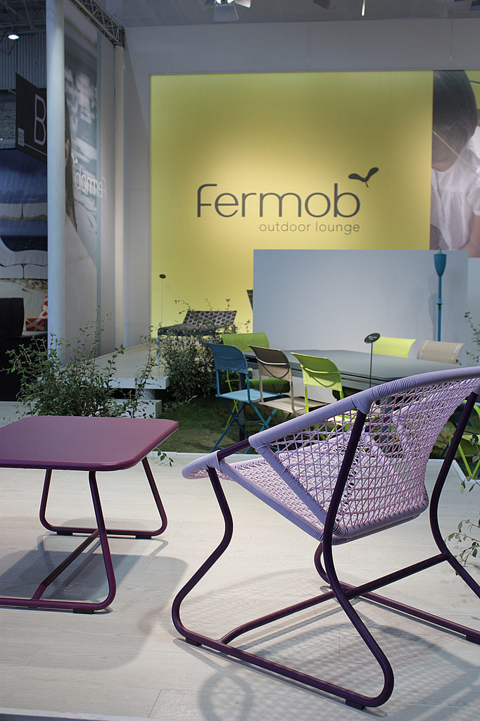 "La collection ""Sixties"" de Fermob présentée en septembre 2010 au salon Maison&Objet © Mathieu Cozanet"