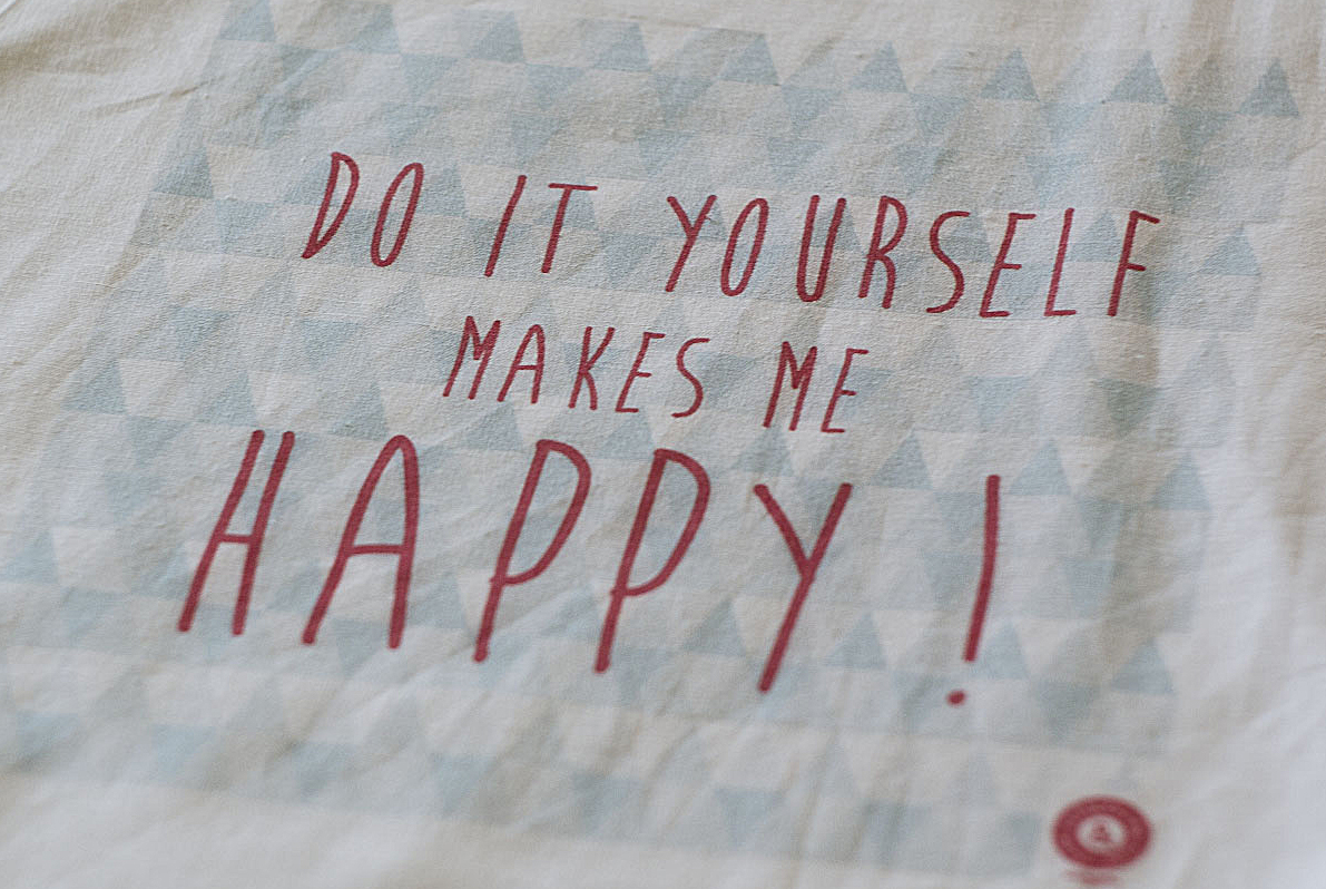 "Le Tote Bag CSF ""Do It Yourself makes me Happy !"""
