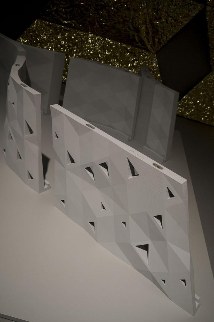 L'habitat imprimé In-Flexion Système paramétrique d'aménagement sur mesure réalisé en impression 3D à grande échelle.