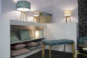 L'unvers de Mademoiselle Dimanche marque de la créatrice Mathilde Alexandre - Une belle gamme textile, des luminaires et une banquette (nouveauté)