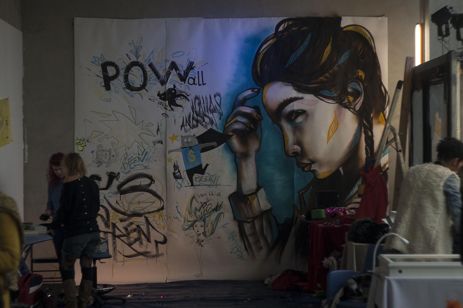 Œuvre collective à l'Expo PoW